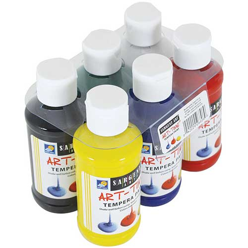 6CT 4OZ PRIMARY TEMPERA SET W/