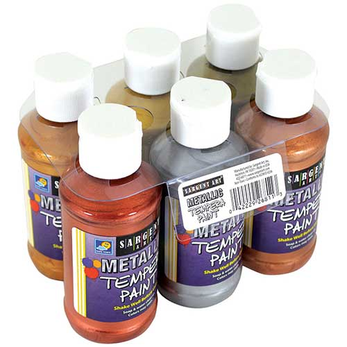 6CT 4OZ METALLIC TEMPERA SET W/