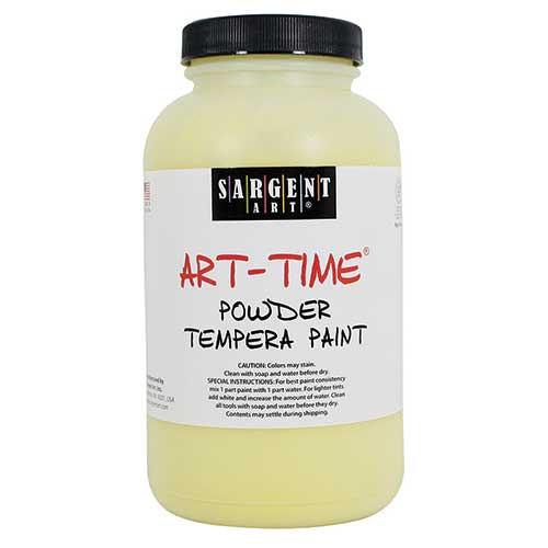 YELLOW POWDER TEMPERA PAINT 1LB