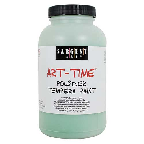 GREEN POWDER TEMPERA PAINT 1LB