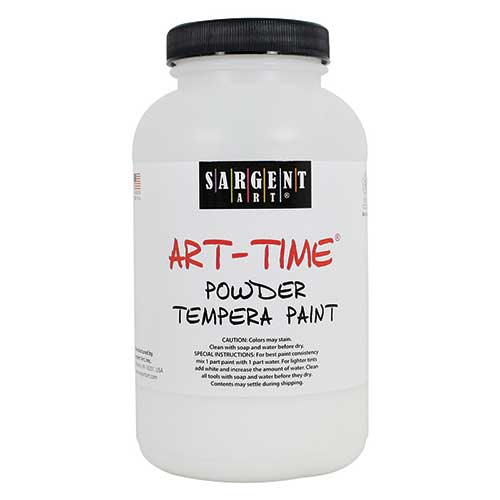WHITE POWDER TEMPERA PAINT 1LB