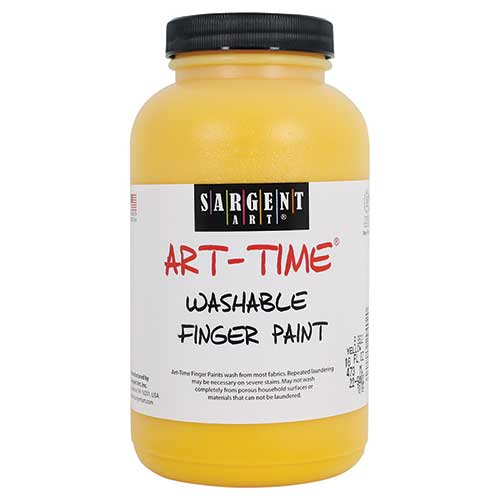 16OZ WASHABLE FINGER PAINT YELLOW