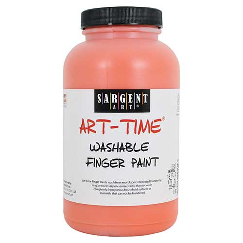 16OZ WASHABLE FINGER PAINT ORANGE