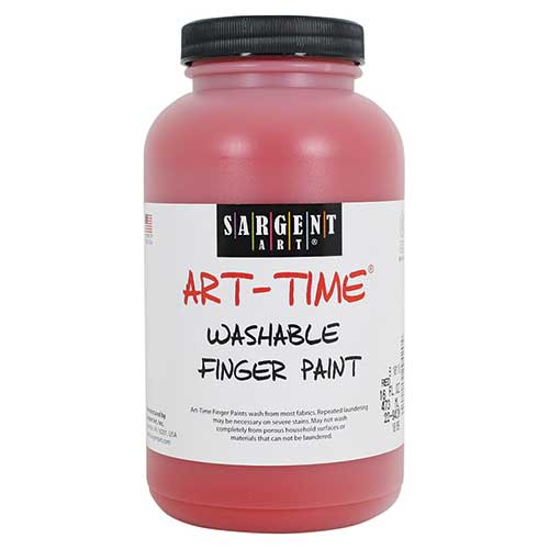 16OZ WASHABLE FINGER PAINT RED