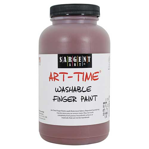 16OZ WASHABLE FINGER PAINT BROWN