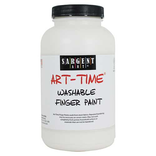 16OZ WASHABLE FINGER PAINT WHITE