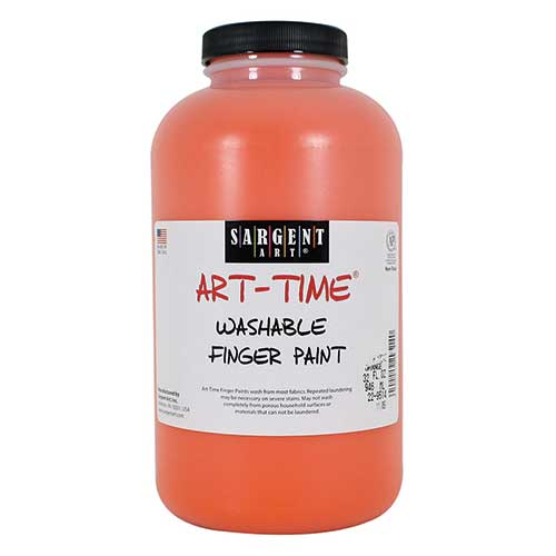 32OZ WASHABLE FINGER PAINT ORANGE