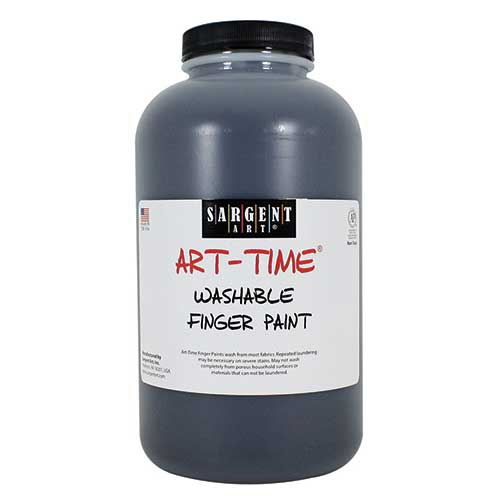 32OZ WASHABLE FINGER PAINT BLACK