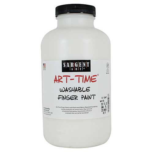 32OZ WASHABLE FINGER PAINT WHITE