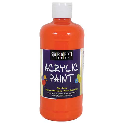 16OZ ACRYLIC PAINT - ORANGE