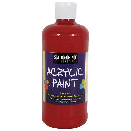 16OZ ACRYLIC PAINT - RED