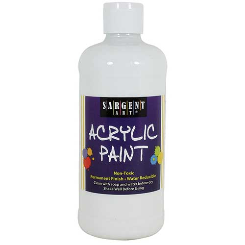 16OZ ACRYLIC PAINT - WHITE
