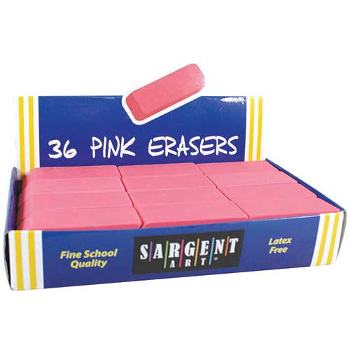 36CT LARGE PINK ERASER PACK