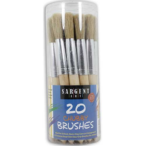 20CT JUMBO BRUSHES PLASTIC HANDLES