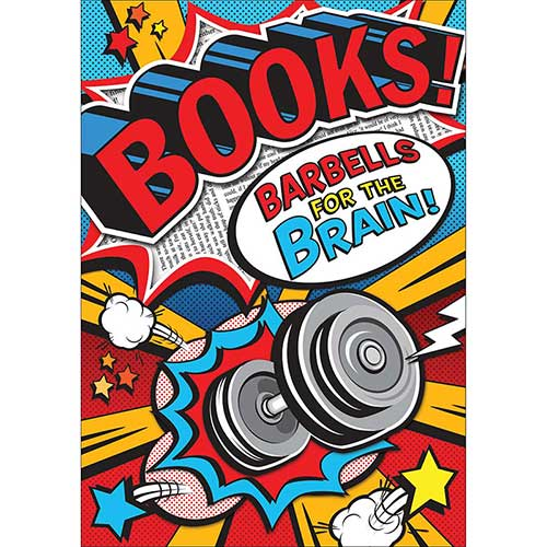 BOOKS BARBELLS POP CHART