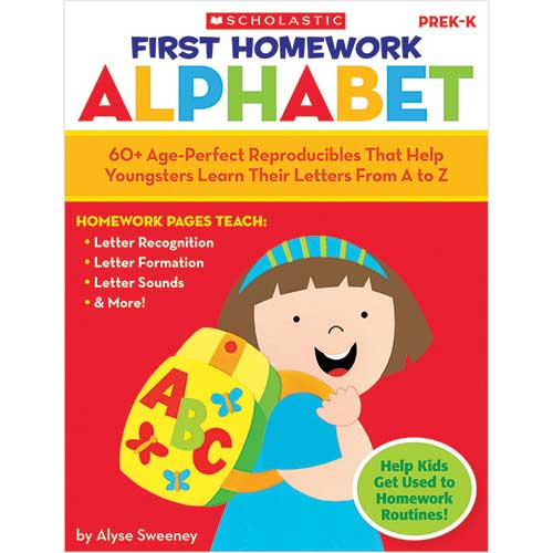 FIRST HOMEWORK ALPHABET GR PK-K