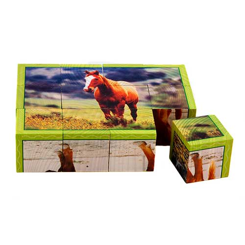 FARM ANIMALS CUBE PUZZLES