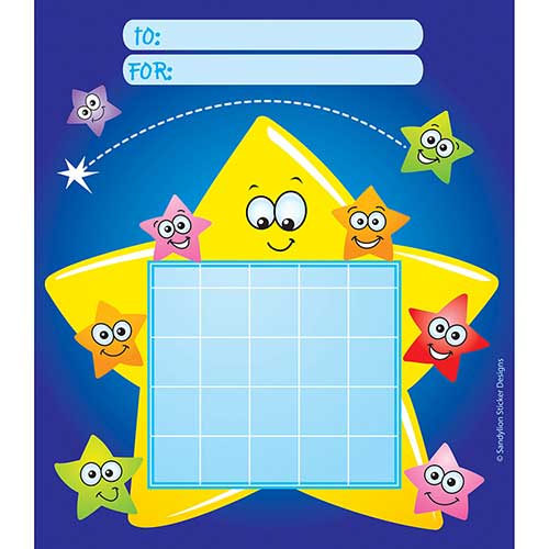 INCENTIVE CHART PAD STARS W/ FACES
