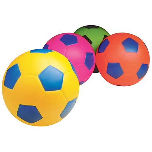 SOCCER BALL 7-1/2IN ASSORTED COLORS