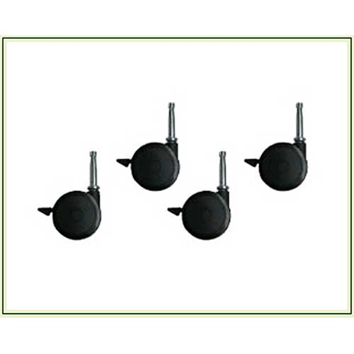 SET OF 4 LOCKING CASTERS