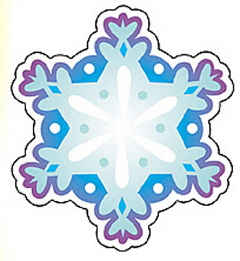 MINI ACCENTS SNOWFLAKE 36/PK 3IN