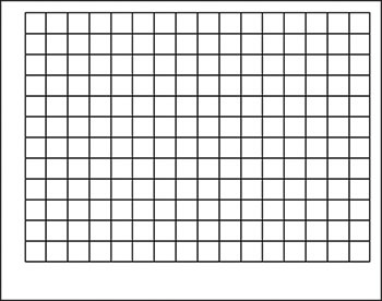 WIPE-OFF CHART GRAPHING GRID 1-1/2