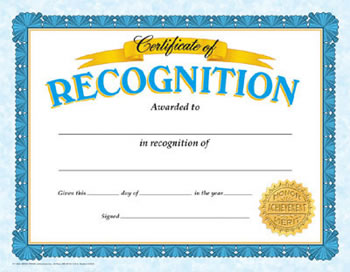 CERTIFICATE OF RECOGNITION CLASSIC