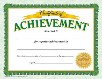 CERTIFICATE OF ACHIEVEMENT CLASSIC