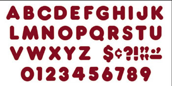READY LETTERS 4 INCH CASUAL MAROON