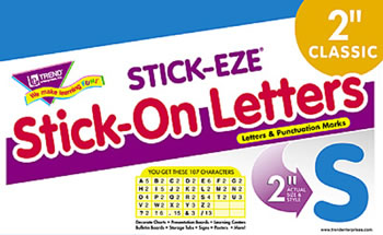 STICK-EZE 2 IN LETTERS & MARKS BLUE