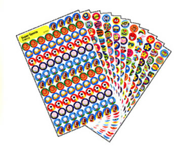 SUPERSPOTS STICKERS POSITIVE 2500PK