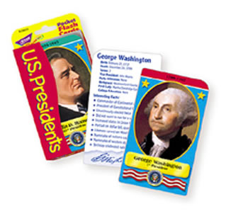POCKET FLASH CARDS PRESIDENTS 56-PK