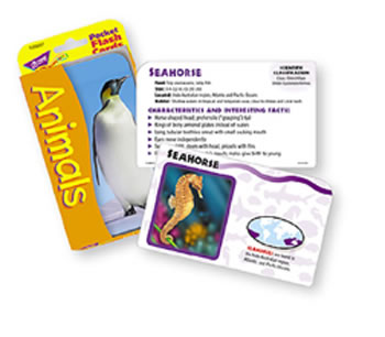 POCKET FLASH CARDS ANIMALS