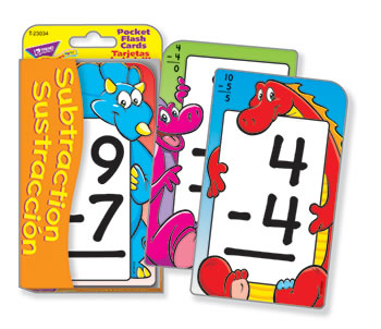 POCKET FLASH CARDS SUBTRACTION