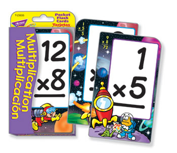 POCKET FLASH CARDS MULTIPLICATION