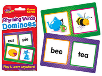 CHALLENGE CARDS RHYMING WORDS