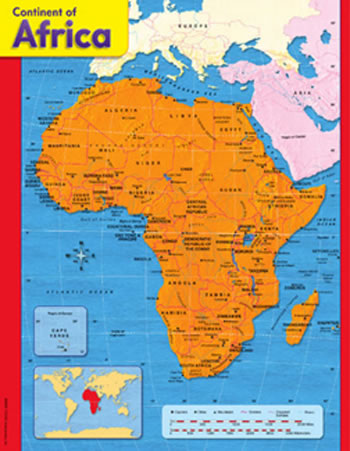 CHART CONTINENT OF AFRICA