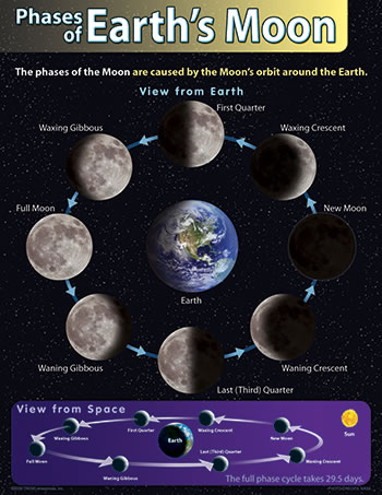 CHART PHASES OF EARTHS MOON