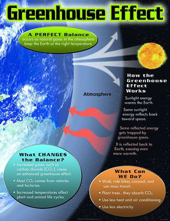 GREENHOUSE EFFECT LEARNING CHART