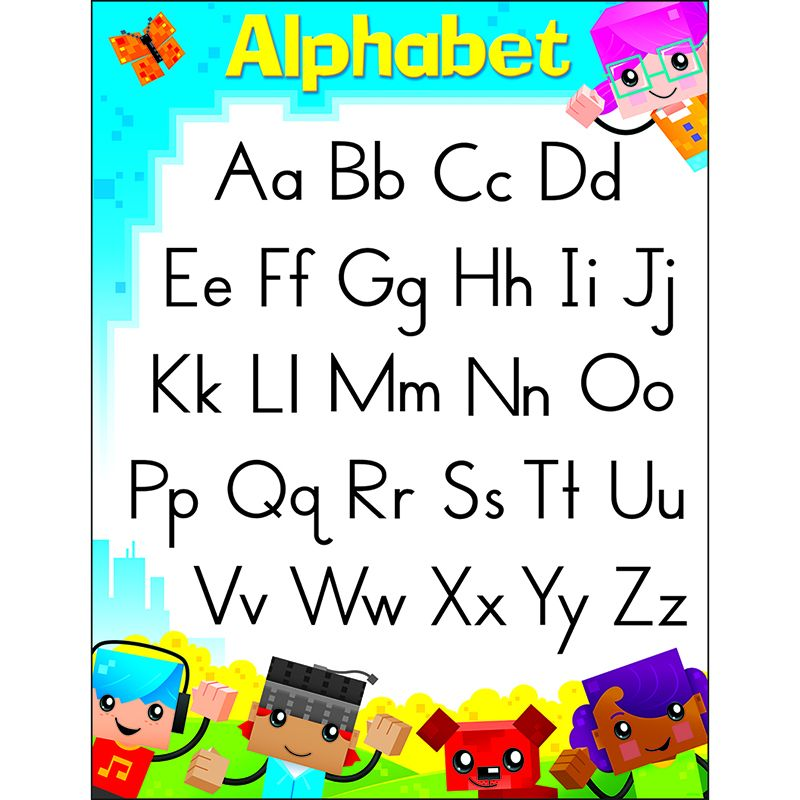 ALPHABET BLOCKSTARS LEARNING CHART