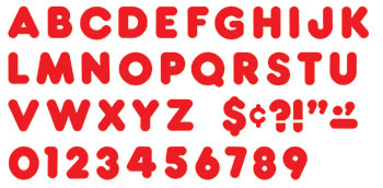 READY LETTERS 2 INCH CASUAL RED