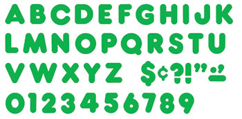 READY LETTERS 2 INCH CASUAL GREEN