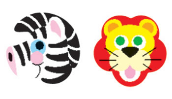 STICKER ZOO ANIMALS SUPERSHAPES