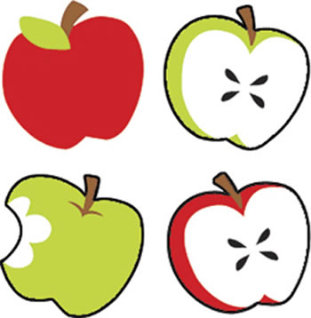 SUPERSHAPES STICKERS TASTY APPLES