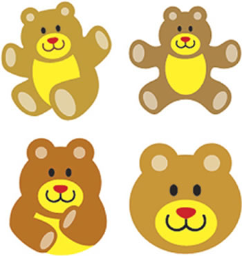 SUPERSHAPES STICKERS TEDDY BEARS