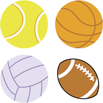 SUPERSHAPES STICKERS SPORTS BALL