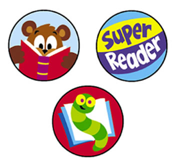 SUPERSPOTS STICKERS READING CELEBRA
