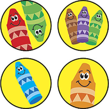 SUPERSPOTS STICKERS CRAYON COLOR