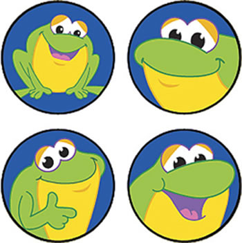 SUPERSPOTS STICKERS FINE FROGS