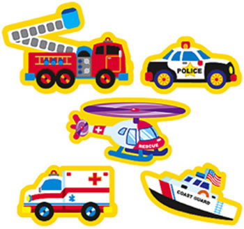 SUPERSHAPES RESCUE VEHICLES 208PK
